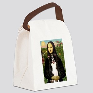 TILE-Mona-BorderCollie1 Canvas Lunch Bag