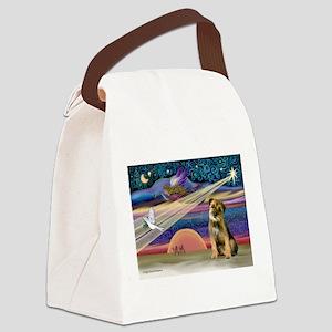 Xmas Star & Border T Canvas Lunch Bag