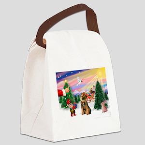 Santa's Treat /Border T Canvas Lunch Bag
