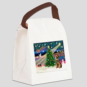 Xmas Magic/Border T Canvas Lunch Bag
