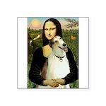 Mona & her Borzoi Square Sticker 3