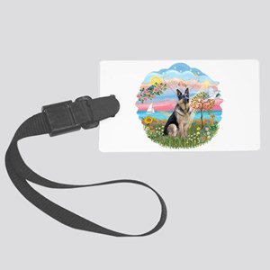 AngelStar-GermanShep16 Large Luggage Tag
