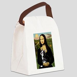 Boston Terrier - Mona Lisa Canvas Lunch Bag
