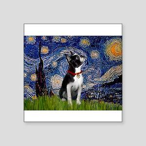 5.5x7.5-Starry-Bostonlkup-RedC Square Sticker