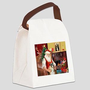 Santa's Boxer (2n) Canvas Lunch Bag