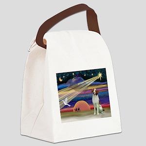 Xmas Star & Brittany Canvas Lunch Bag