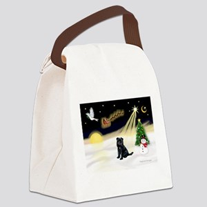 Night Flight/ Brussels Canvas Lunch Bag