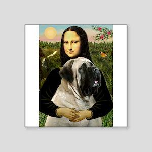 "Mona's Bull Mastiff Square Sticker 3"" x 3"""