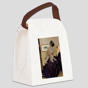 Mom's Bull Mastiff Canvas Lunch Bag