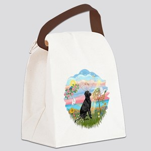 Angel Star - Black Lab Canvas Lunch Bag