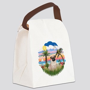 Palms - Fawn Pug 17 Canvas Lunch Bag