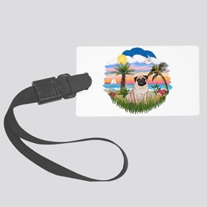 Palms - Fawn Pug 17 Large Luggage Tag