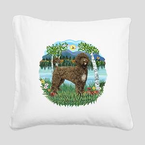 Birches-brownPWD2C Square Canvas Pillow