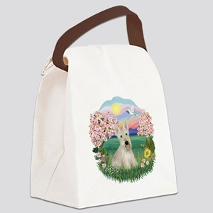 Blossoms - Scotty - Wheaten Canvas Lunch Bag