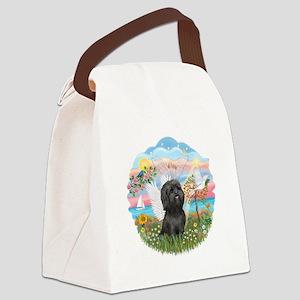 AngelStar-BlackShihTzu Canvas Lunch Bag