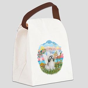 AngelStar-ShihTzu(wt) Canvas Lunch Bag
