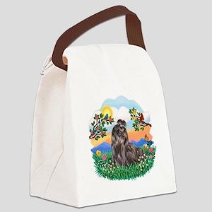 Bright Life-Shih Tzu 24 Canvas Lunch Bag