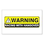 WARNING-RACING Sticker (Rectangle 50 pk)
