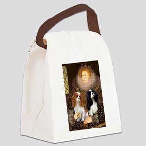 Queen / Two Cavaliers Canvas Lunch Bag