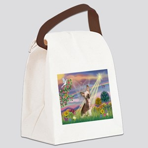 Cloud Angel/Chinese Crested Canvas Lunch Bag