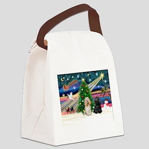 XmasMagic/2 Cockers Canvas Lunch Bag