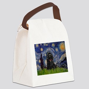 Starry/Cocker (blk) Canvas Lunch Bag