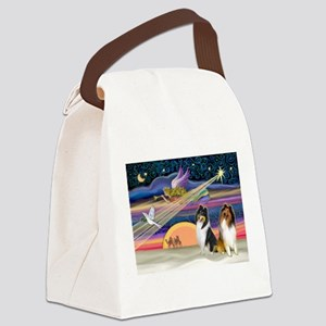 XmasStar/2 Collies Canvas Lunch Bag