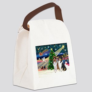 Xmas Magic & Collie Canvas Lunch Bag