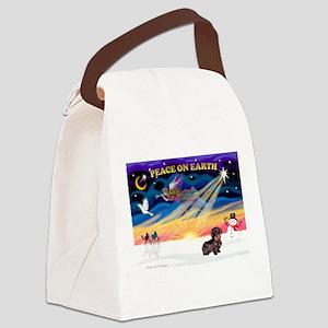 XmasSunrise/WH Dachshund Canvas Lunch Bag