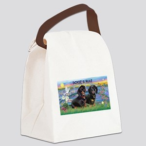 Sunrise Lilies / Doxie's Rule Canvas Lunch Bag