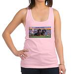 Sunrise Lilies / Doxie's Rule Racerback Tank Top