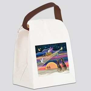 XmasStar/2 Dobies Canvas Lunch Bag