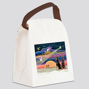 XmasStar/2 Dobies (P2) Canvas Lunch Bag