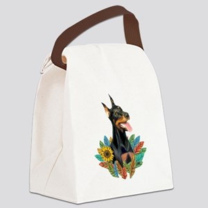 Leaves 2 - Doberman 1 Canvas Lunch Bag