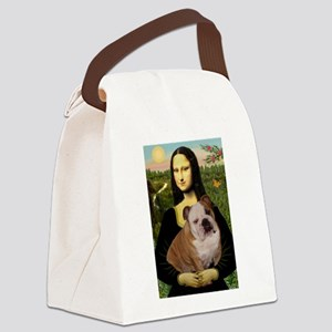 Mona's English Bulldog Canvas Lunch Bag
