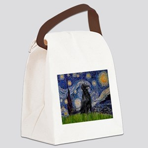 card-StarryNight-FCRetr1 Canvas Lunch Bag