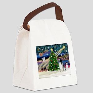 Xmas Magic & English Springer Canvas Lunch Bag
