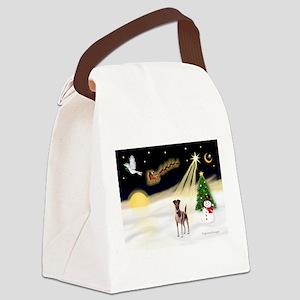 Night Flight/Fox Terrier Canvas Lunch Bag