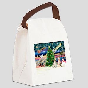 Xmas Magic & Wire Fox T pair Canvas Lunch Bag