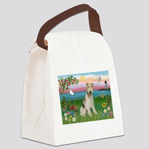 Lighthouse & Wire Fox Terrier Canvas Lunch Bag