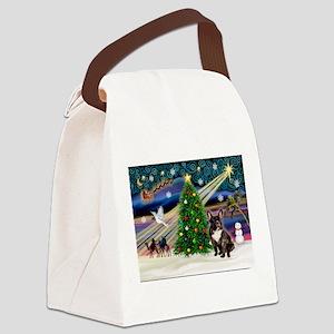 Xmas Magic/French BD (br) Canvas Lunch Bag