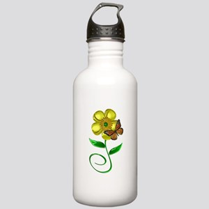 Monarch and Buttercup Stainless Water Bottle 1.0L