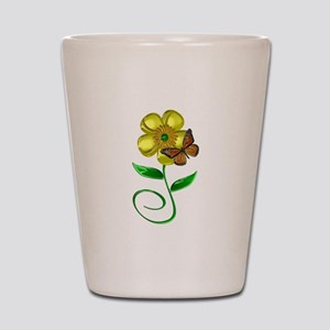 Monarch and Buttercup Shot Glass
