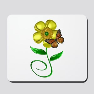 Monarch and Buttercup Mousepad