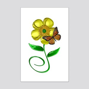 Monarch and Buttercup Mini Poster Print