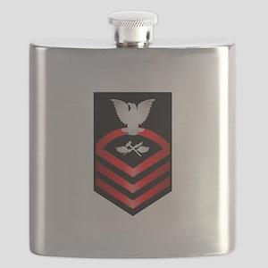 Navy Chief Aviation Support Equipment Tech Flask