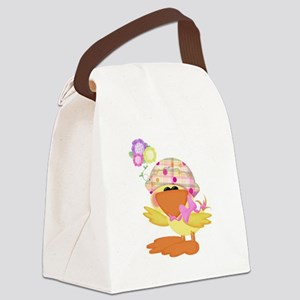 baby girl spring ducky Canvas Lunch Bag