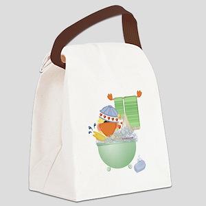 cute bathtime ducky Canvas Lunch Bag
