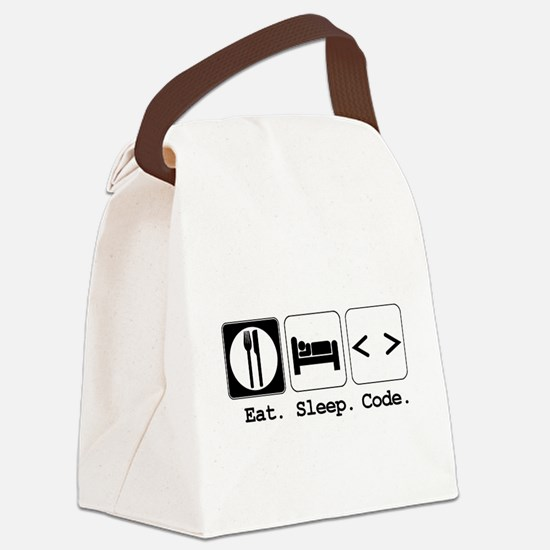 code.png Canvas Lunch Bag