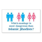 moreDangerousThanJihadis Sticker (Rectangle 50 pk)